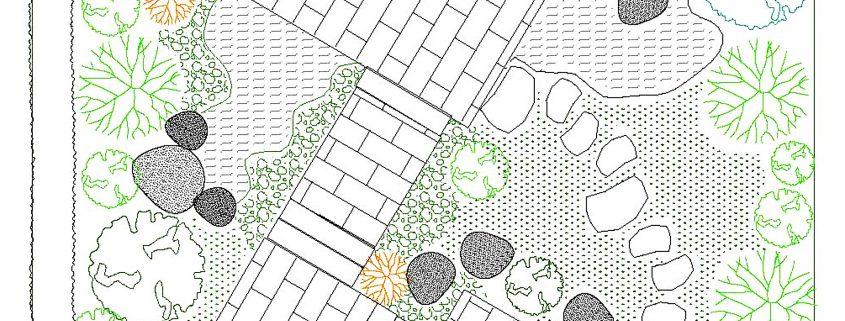 """Entwurfsplan zum Themengarten """"Grüne Liebe und Leidenschaft"""""""