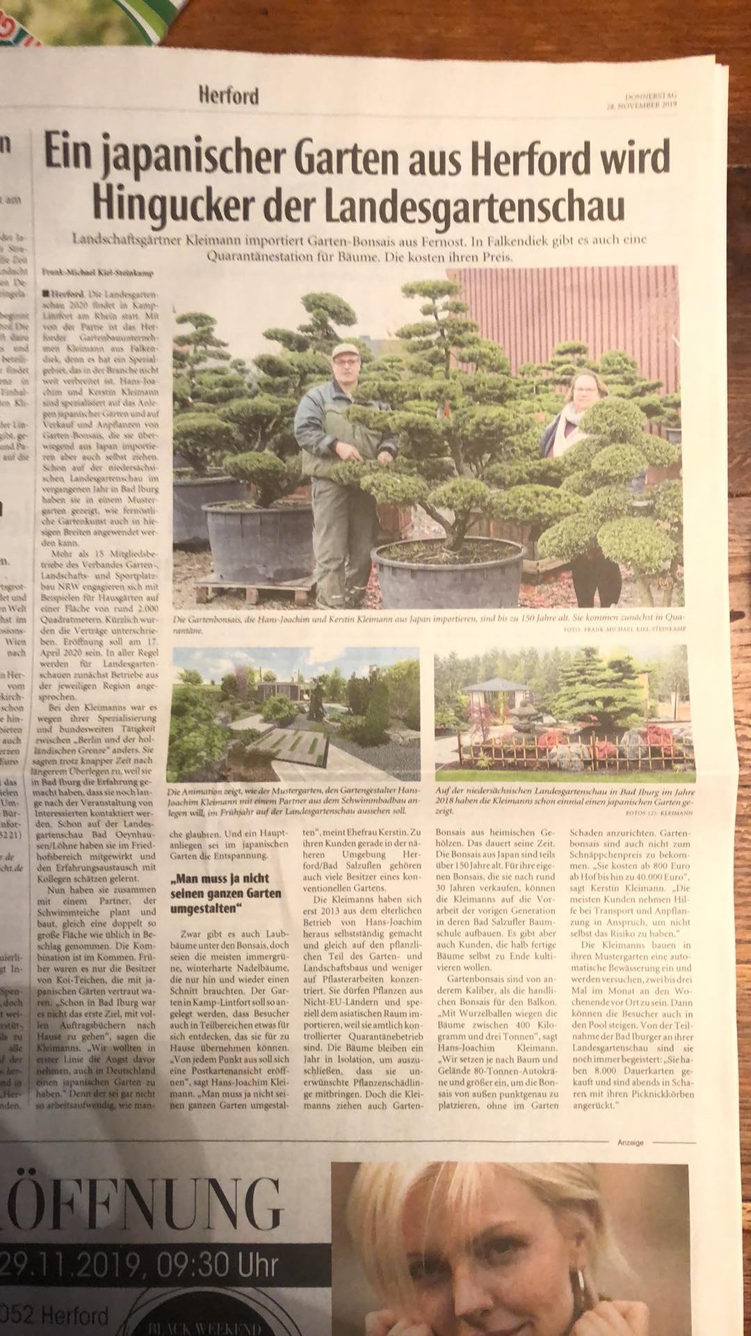 Hans-Joachim Kleimann Gartengestaltung baut einen Themengarten auf der Landesgartenschau Kamp-Lintfort.