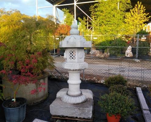 Granit-Steinlaterne Tempellaterne SL 15001 Bonsai-NRW